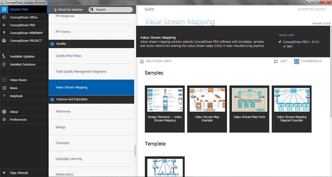 Value Stream Mapping Solution in ConceptDraw STORE