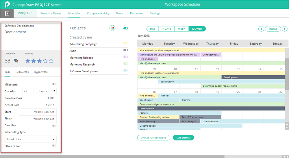 How to View Tasks of Multiple Projects Using Scheduler