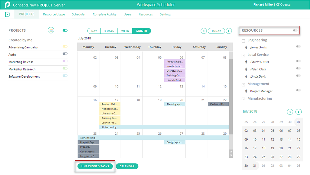 How to View Resource Tasks Scheduled on a Specific Time in Different Projects