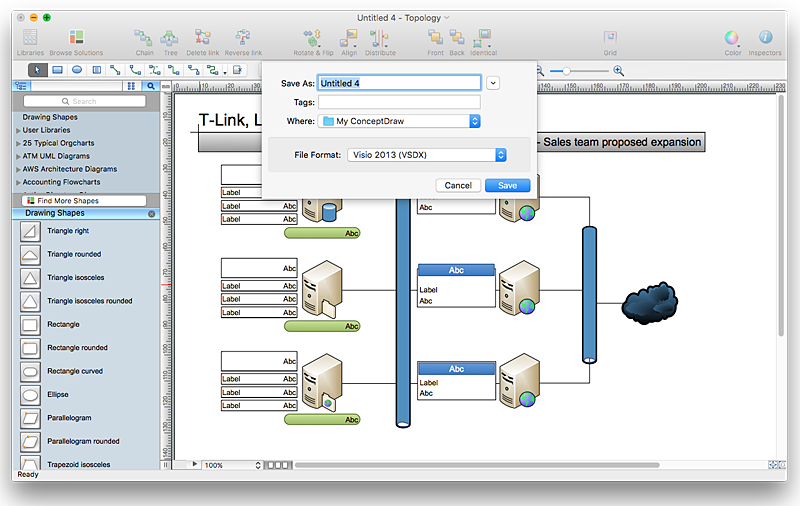 Helpdesk visio files conversion for Visio garden template