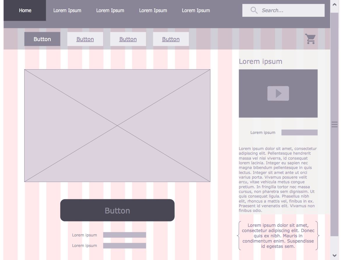 Wireframe Examples - User Registration Form