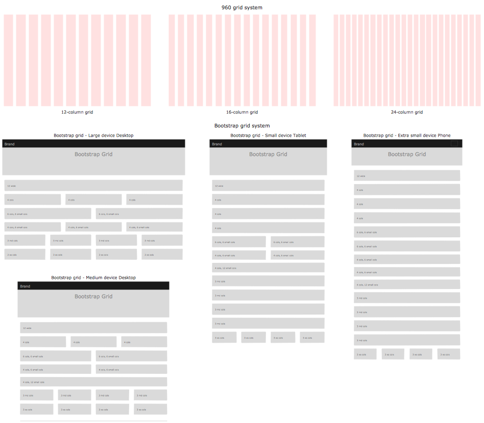 Wireframe Grid Library