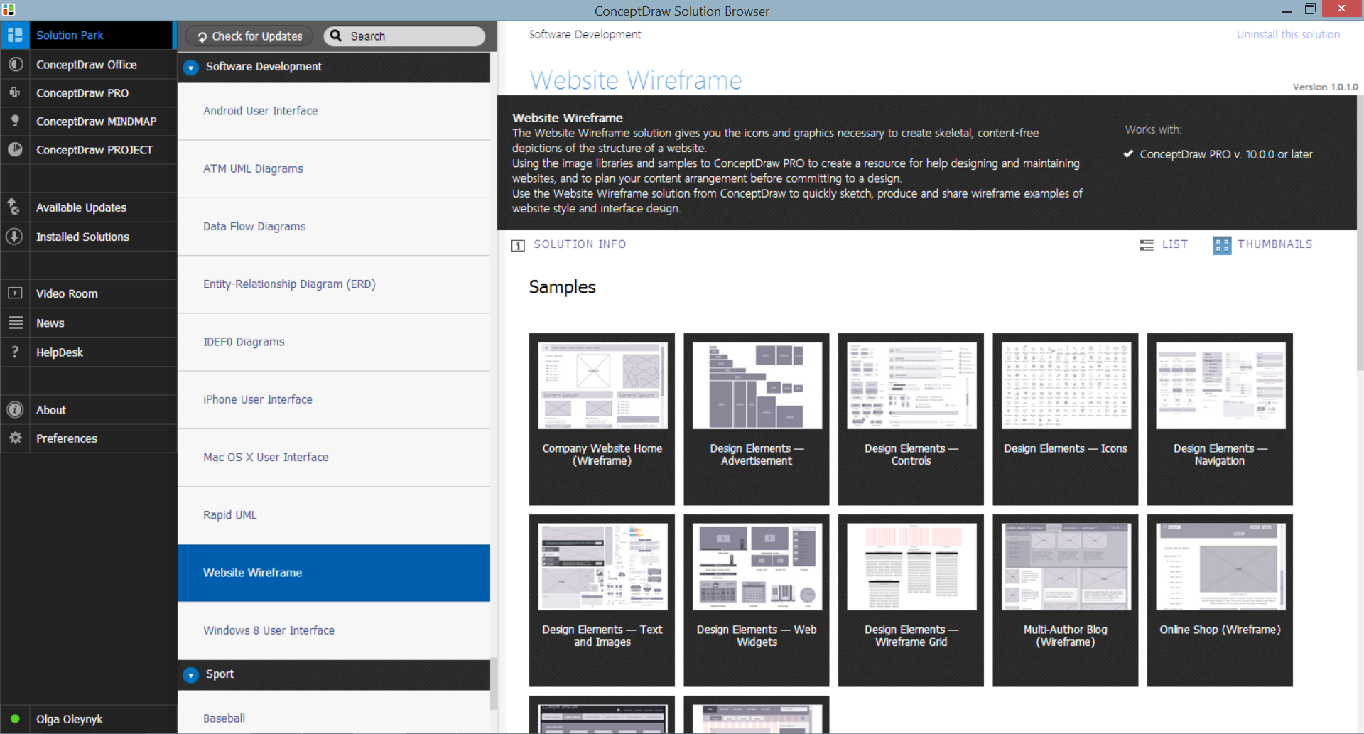 Website Wireframe Solution in ConceptDraw STORE