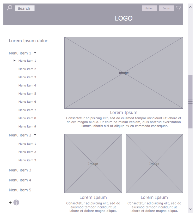 Online Shop Wireframe