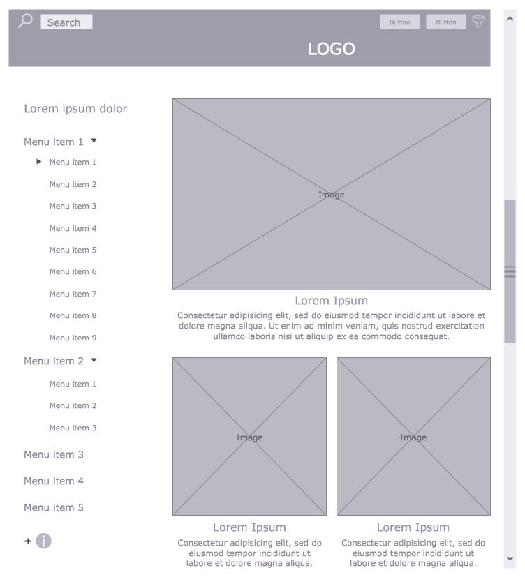 Website Wireframe: Wireframing