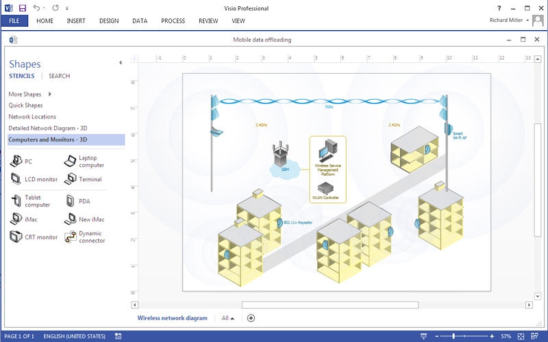 How to create a ms visio wireless network diagram using conceptdraw how to create a ms visio wireless network diagram using conceptdraw pro ccuart Images