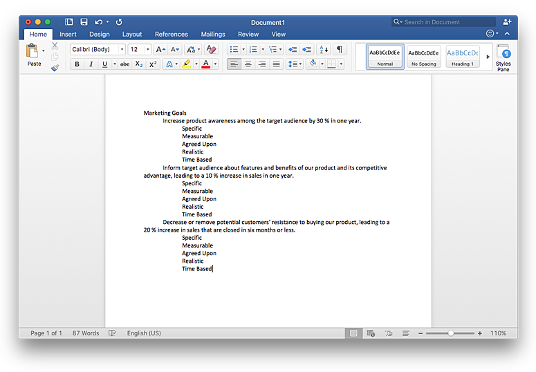 Insert mind map into ms word document
