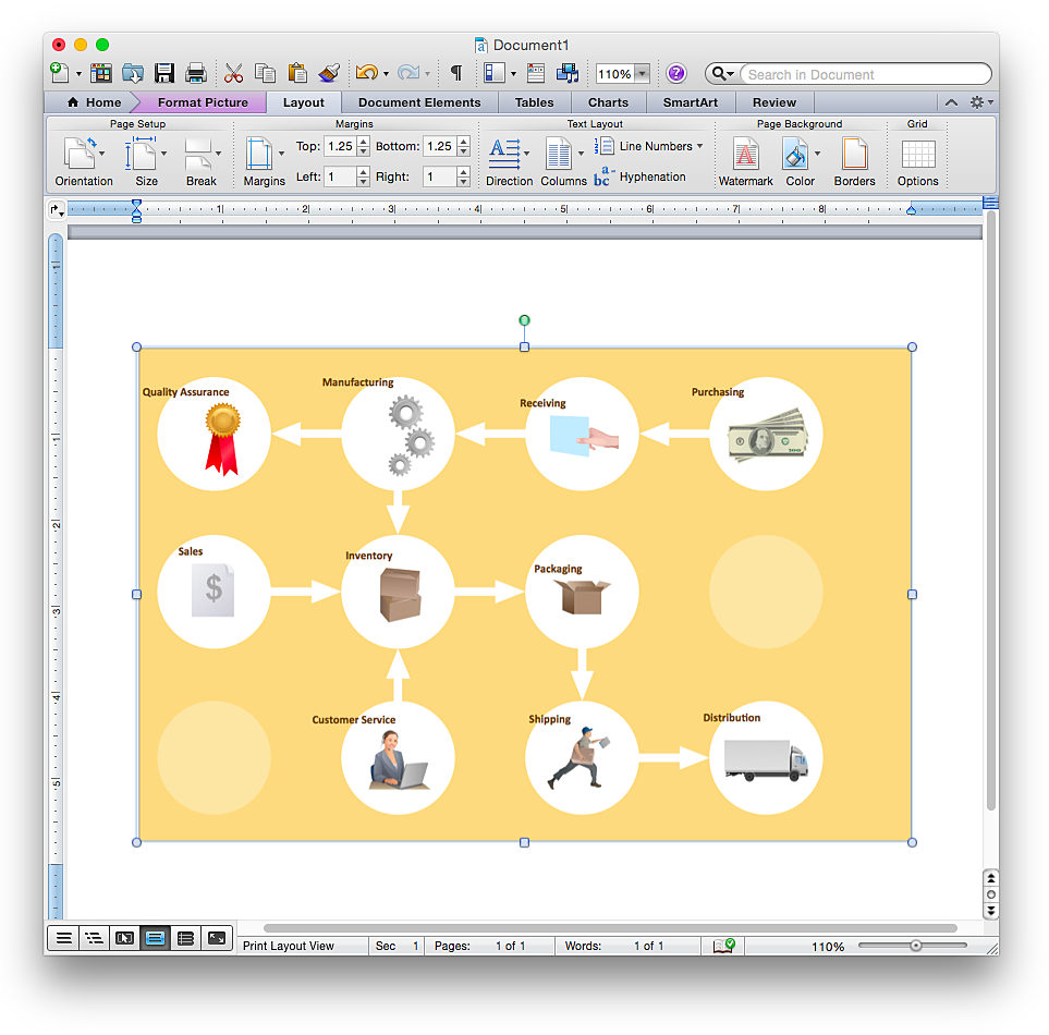 How To Add A Workflow Diagram To A MS Word Document Using - Workflow document template