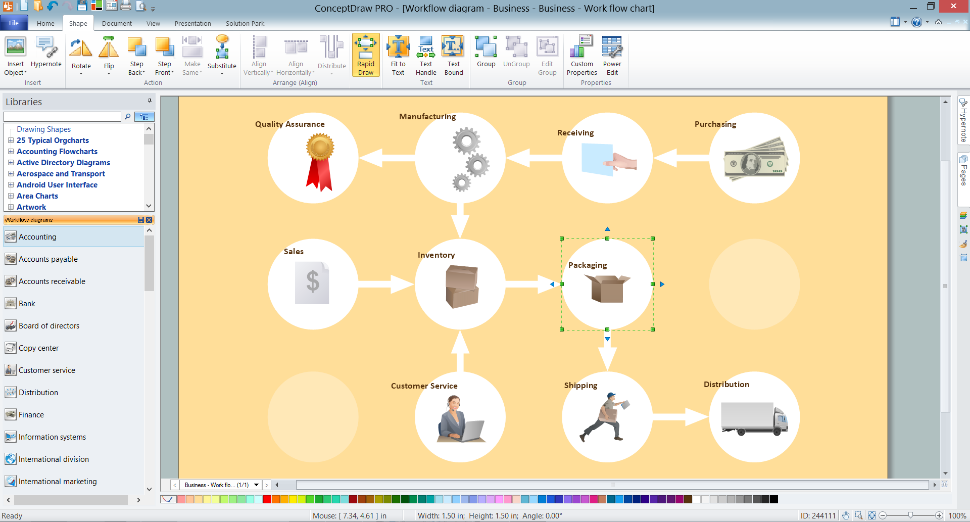 RapidDraw for Workflow Diagram Design