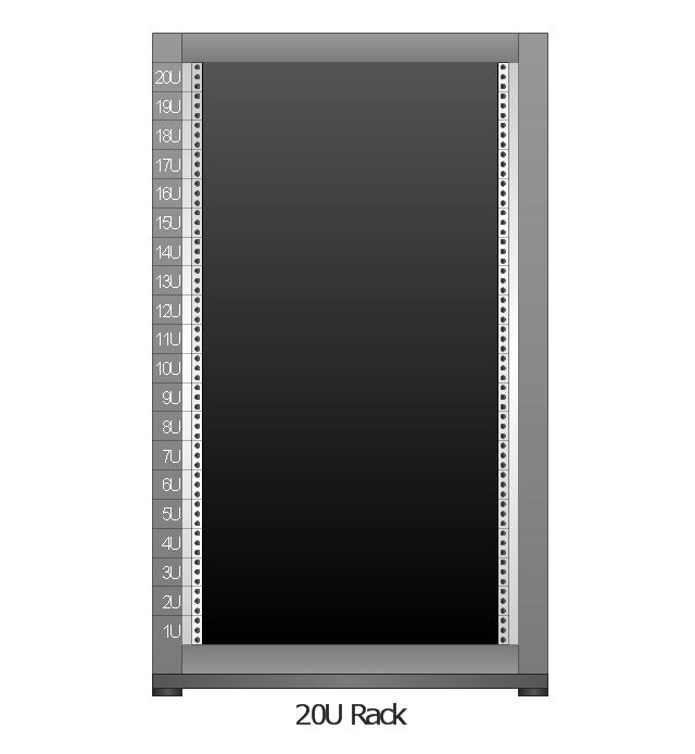 Rack Diagrams Vector Stencils Library