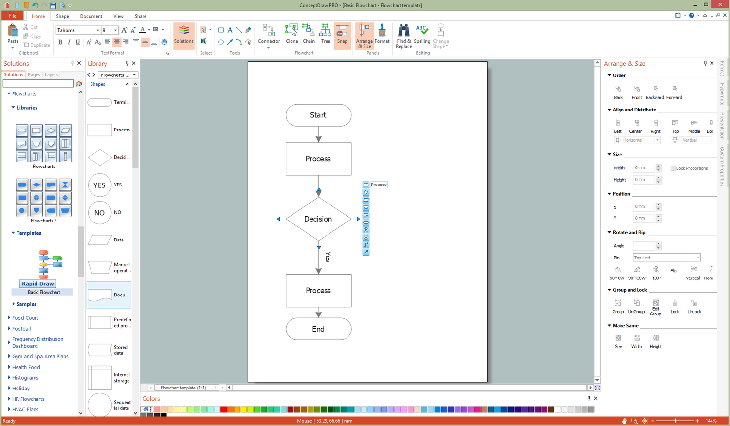 openoffice flow chart template