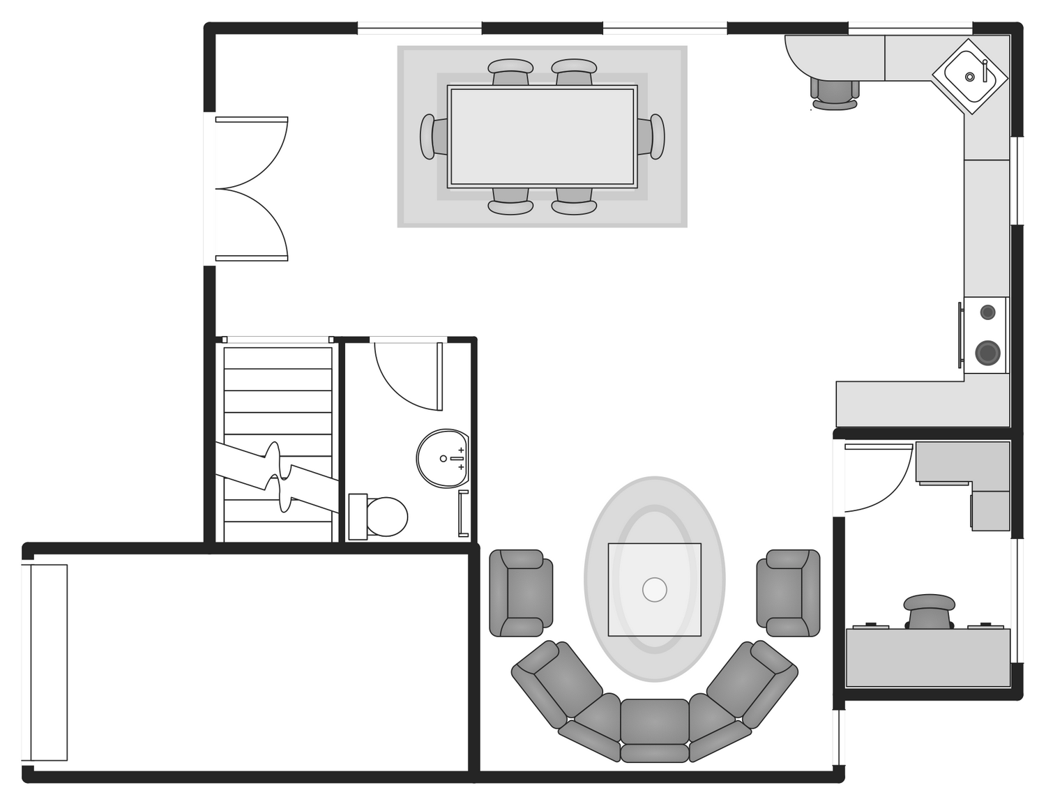 New basic floor plans solution for complete building design for Floorplan com