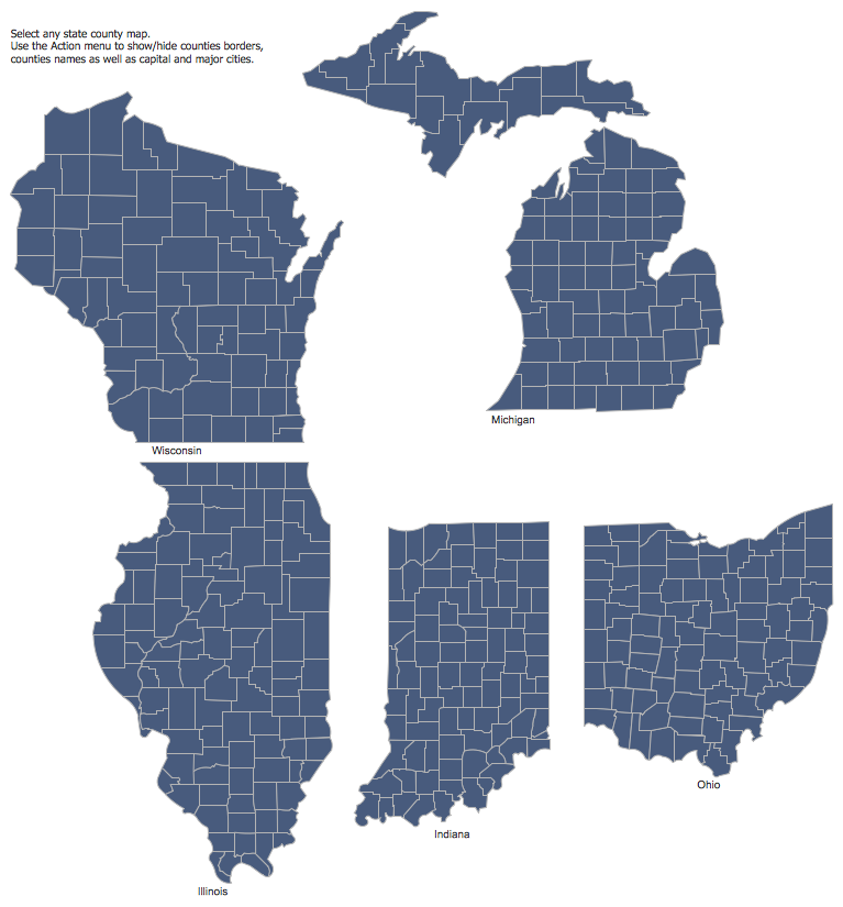 Cs Odessa Releases A Paid United States Mapping Solution For Conceptdraw Pro V10