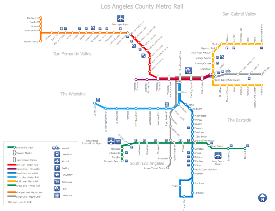 Los Angeles Subway Map New.Cs Odessa Announces New Map Solutions For Conceptdraw Pro