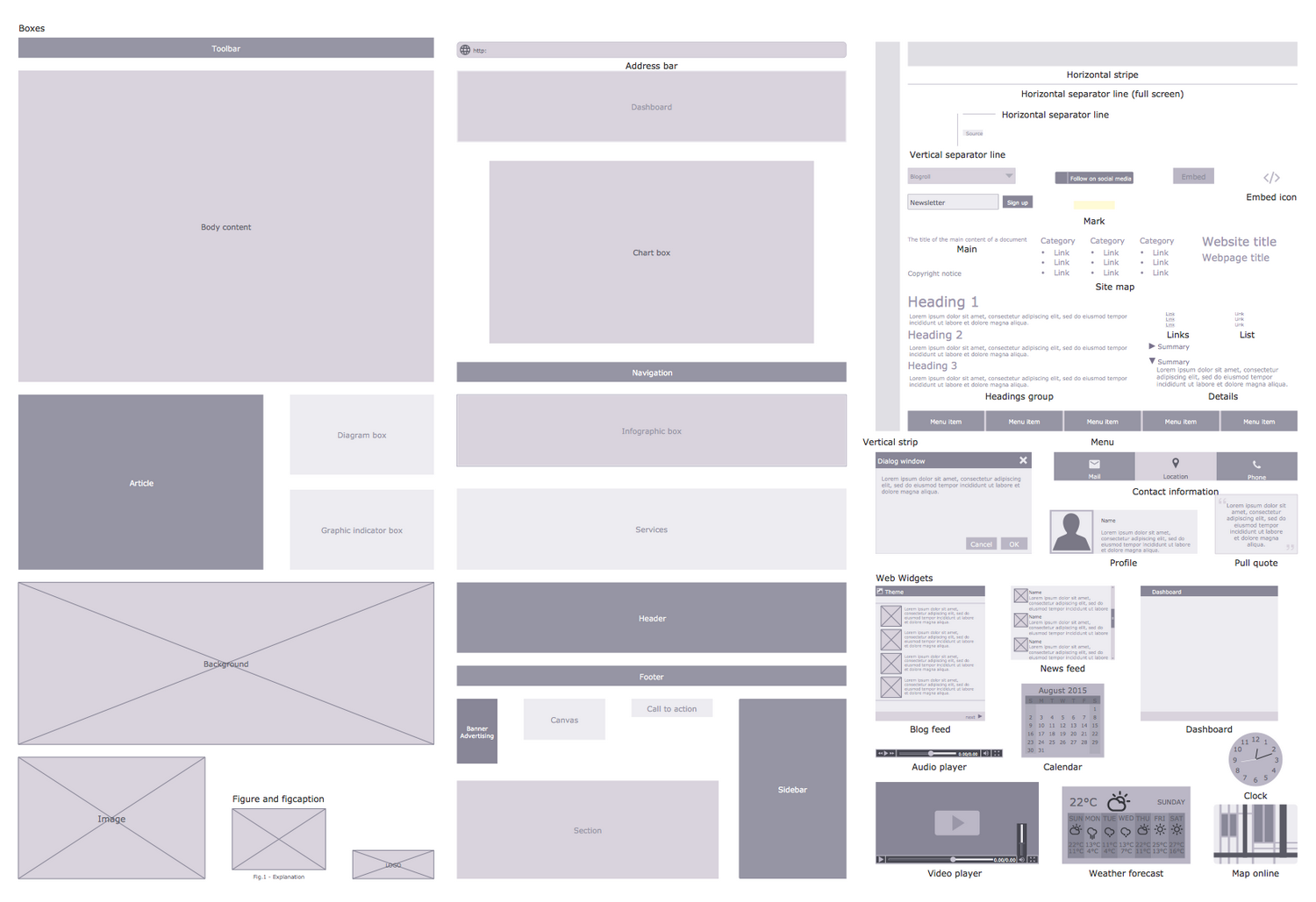 cs odessa announces website wireframe solution for conceptdraw pro rh conceptdraw com Wireframe Software Web Wireframe