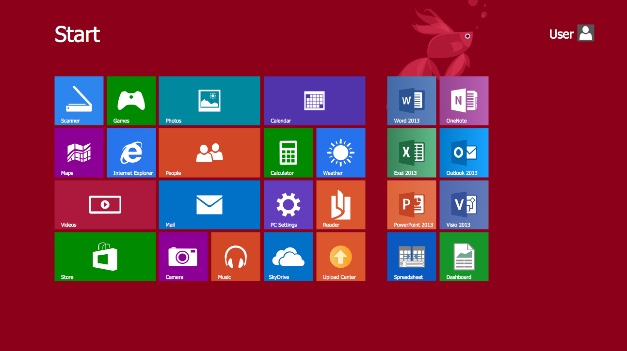Windows User Interface Desktop Design Example