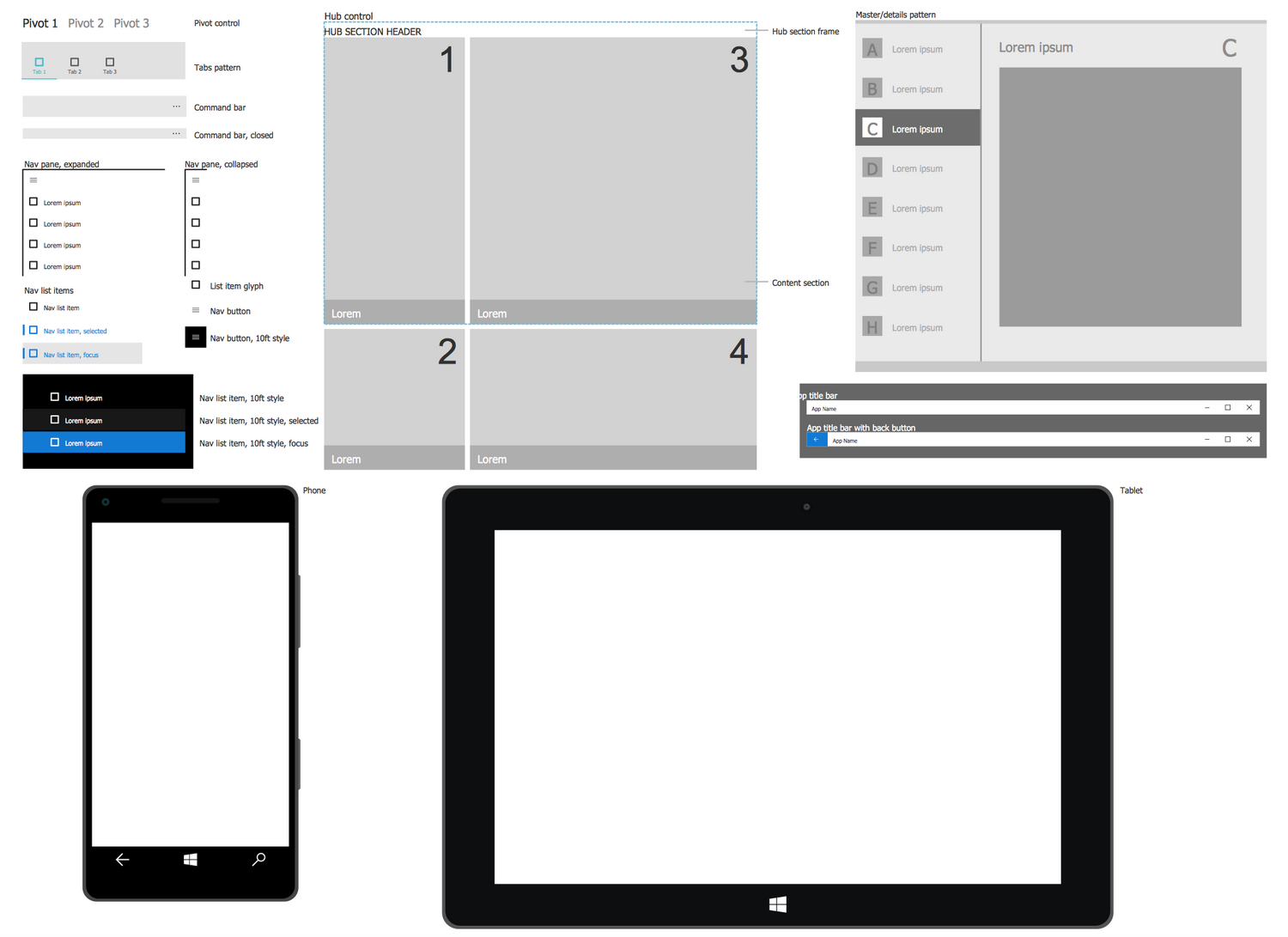 New windows 10 user interface solution for conceptdraw pro for New windows software