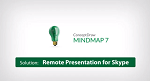 How to show a mind map presentation via Skype