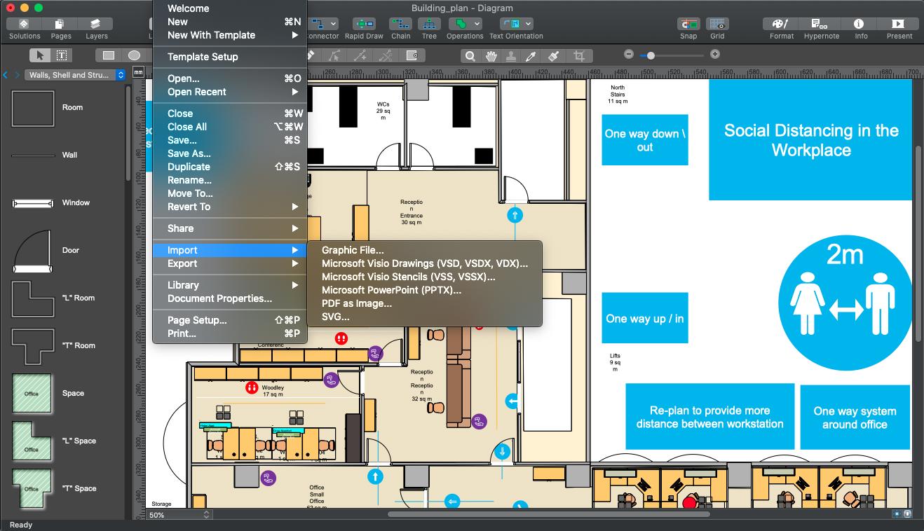 ConceptDraw DIAGRAM 14.1.1.378 Mac 破解版 商业图形设计软件