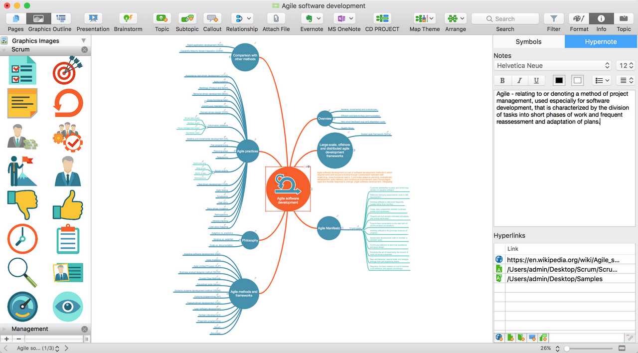 mind mapping software planning and brainstorming tool