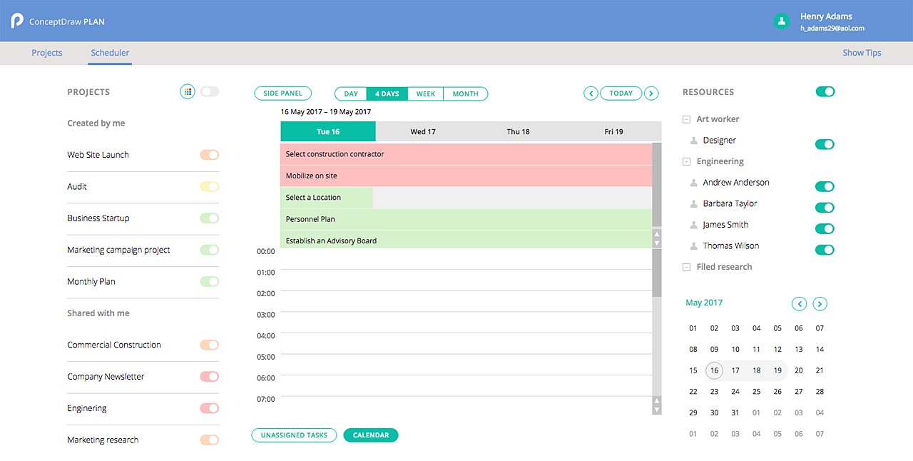 Your online project management tool conceptdraw for Online planning tool