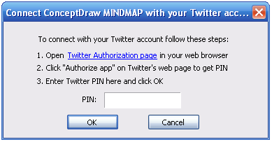 connect ConceptDraw MINDMAP dialog box