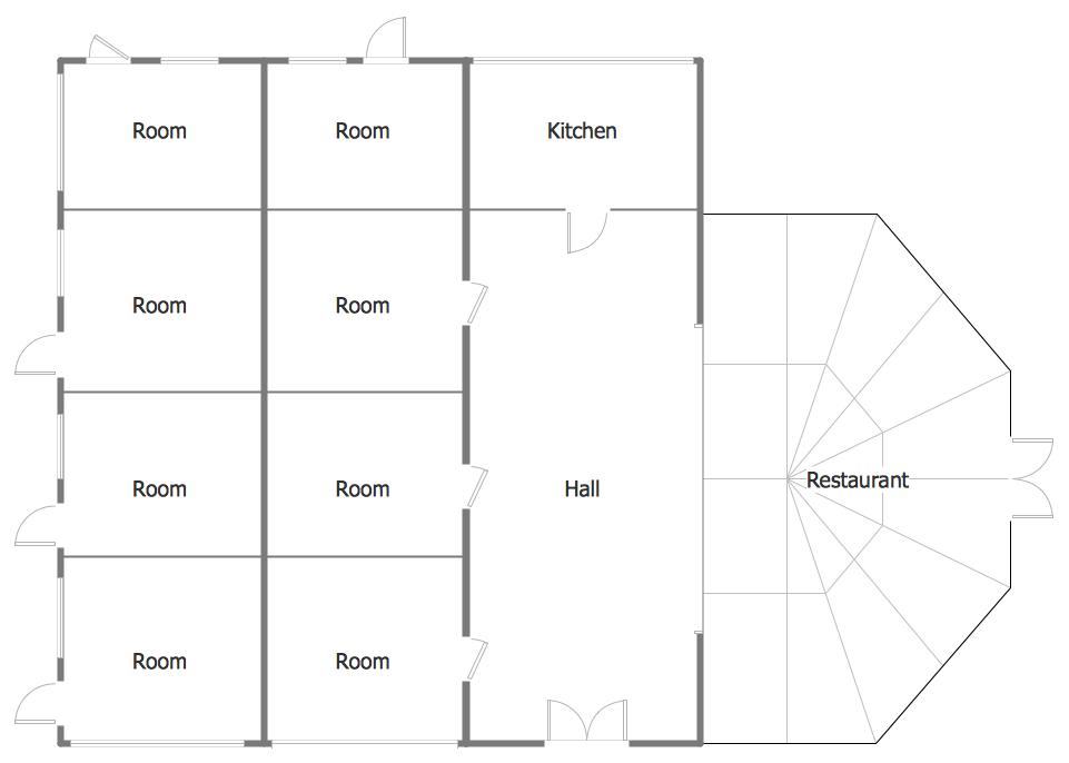 Building Floor Plans Minihotel Floor Plan Sample conceptdraw samples building plans floor plans,House Diagram Floor Plan