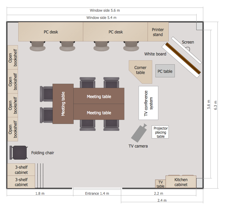 Conceptdraw samples building plans school and training plans sample 2 classroom floor plan malvernweather Choice Image