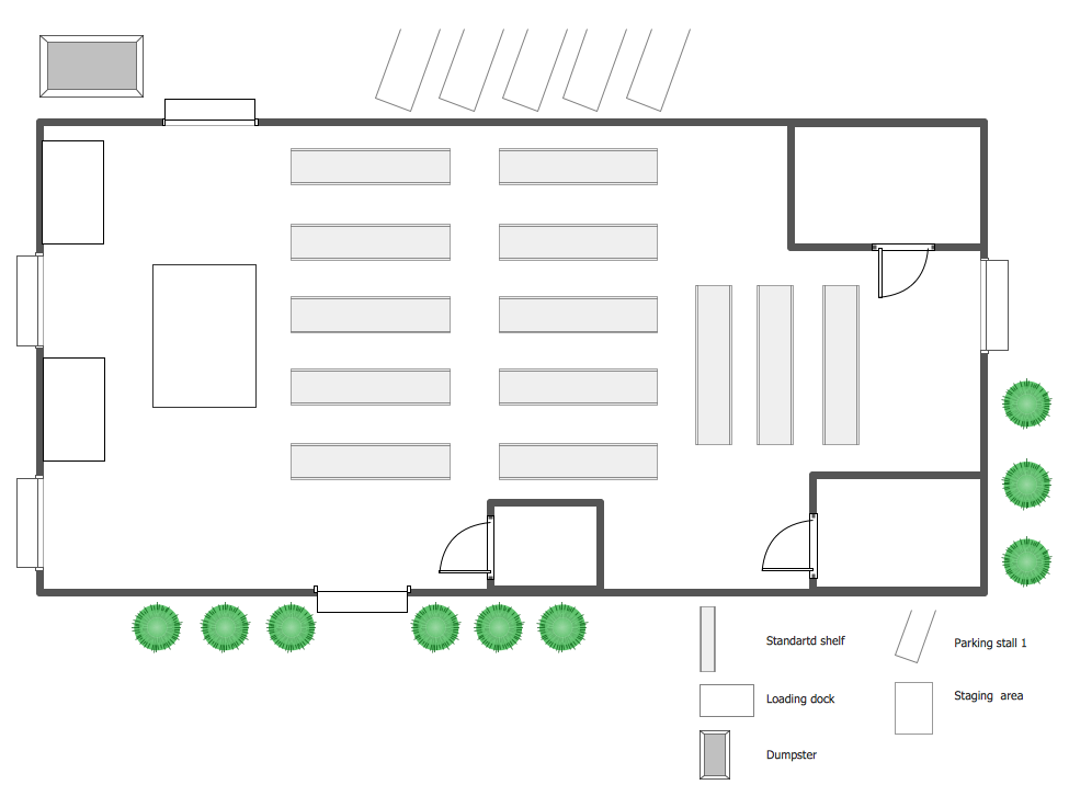 ConceptDraw Samples | Building plans — Plant layout