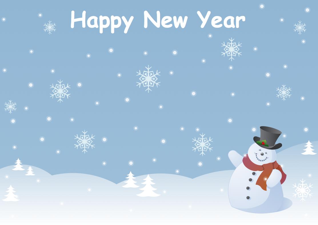 Illustration holiday sample 8 new year card snowman kristyandbryce Choice Image