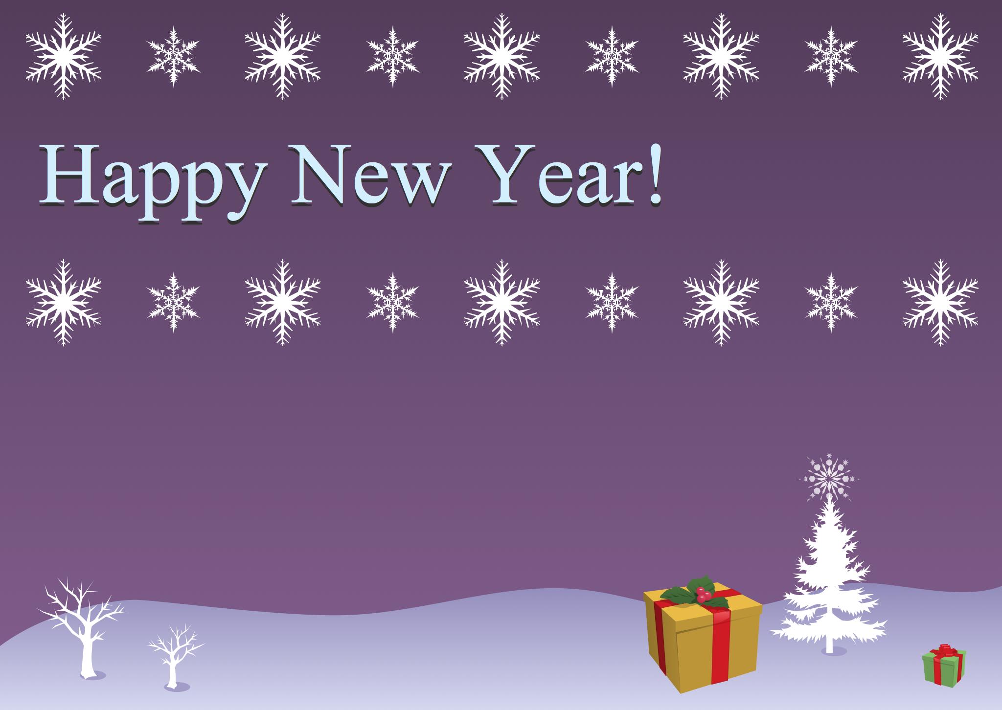 Illustration holiday sample 2 christmas snowflakes and gifts kristyandbryce Choice Image
