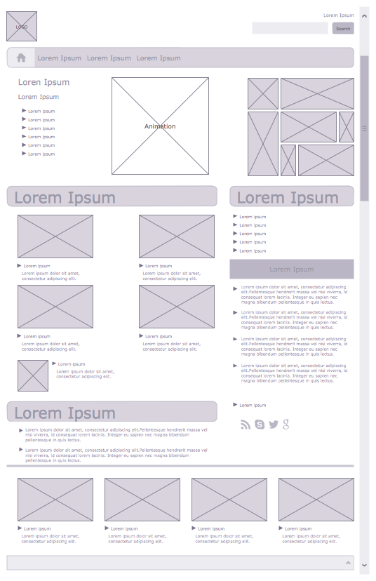 samples conceptdraw com rh conceptdraw com Wireframe Diagram for a Store Website Wireframe Diagram Example