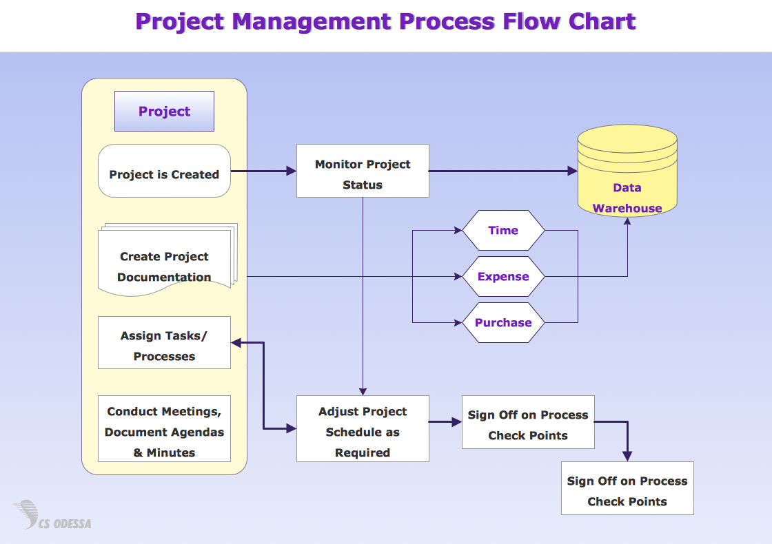 Project Process Flow Chart on business process flow diagram