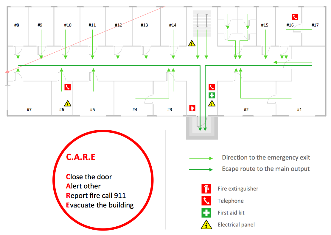 Conceptdraw samples building plans fire and emergency for Fire plans