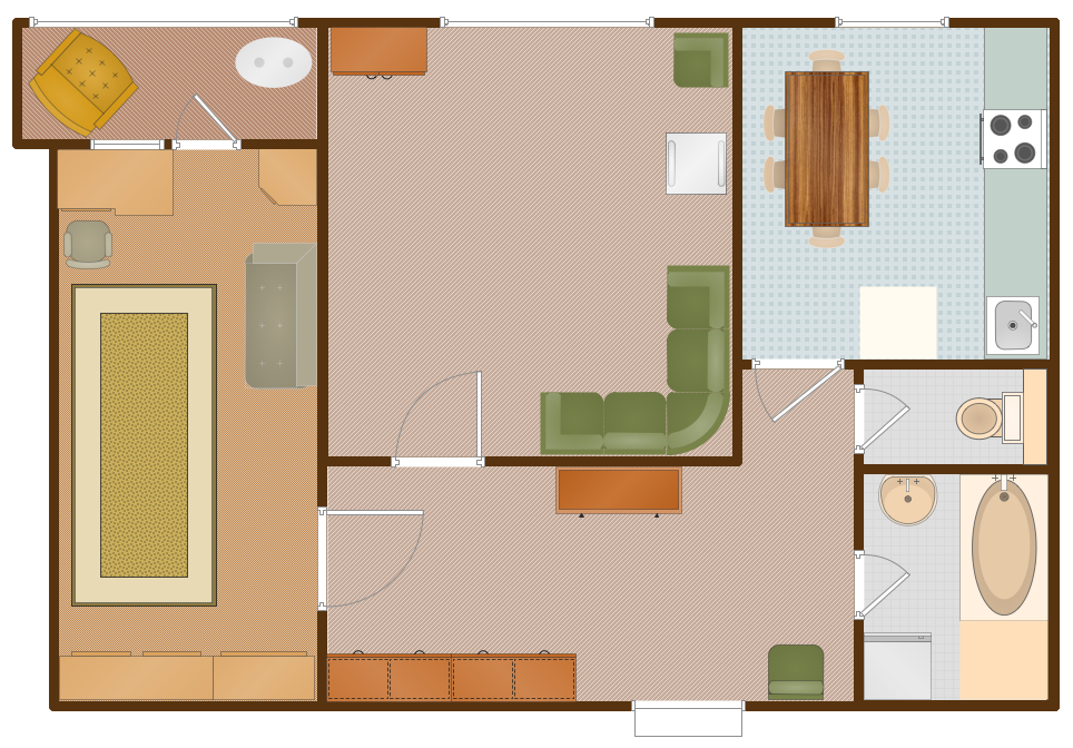 Conceptdraw samples building plans floor plans for Apartment designer program