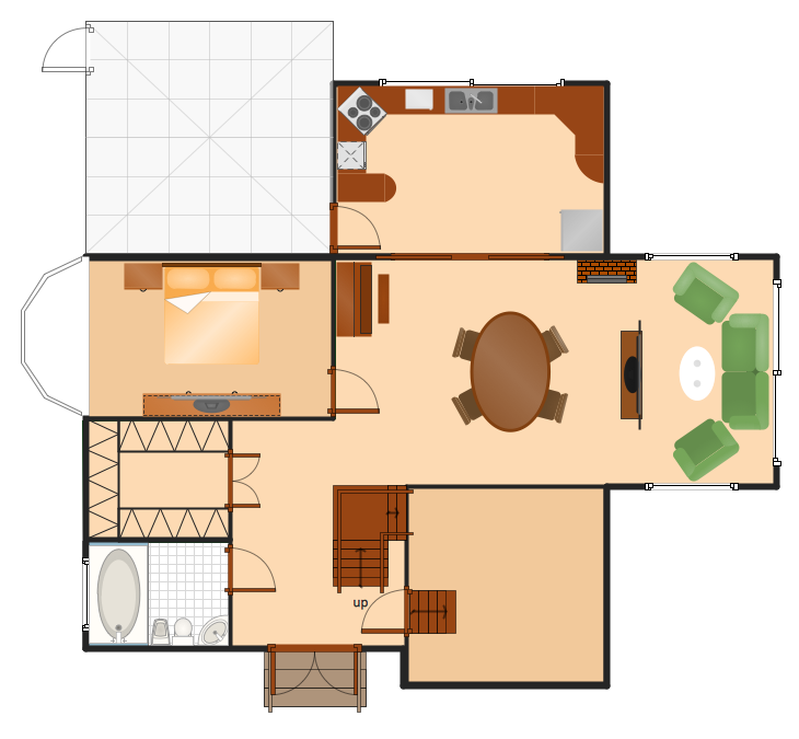 Conceptdraw samples building plans floor plans for Sample home floor plans