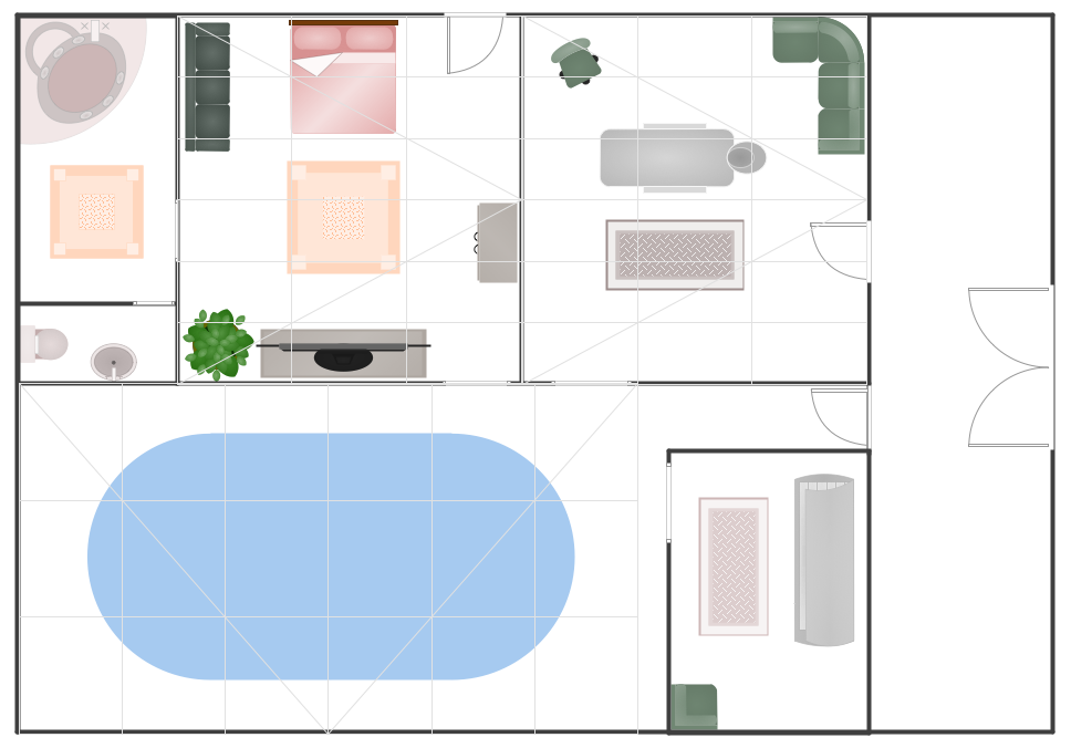 Conceptdraw samples building plans gym and spa area plans for Gym floor plan examples
