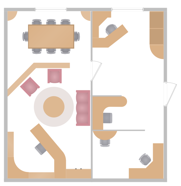 Conceptdraw samples building plans office layout for Office layout plan design