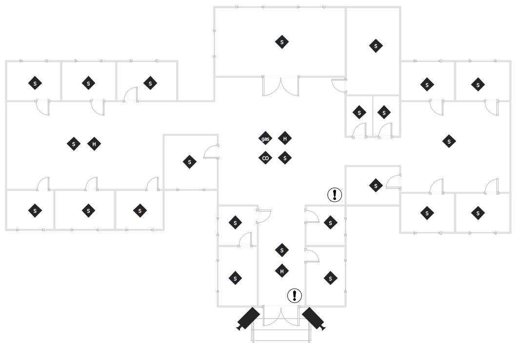doorbell plan symbol  u0026 easy