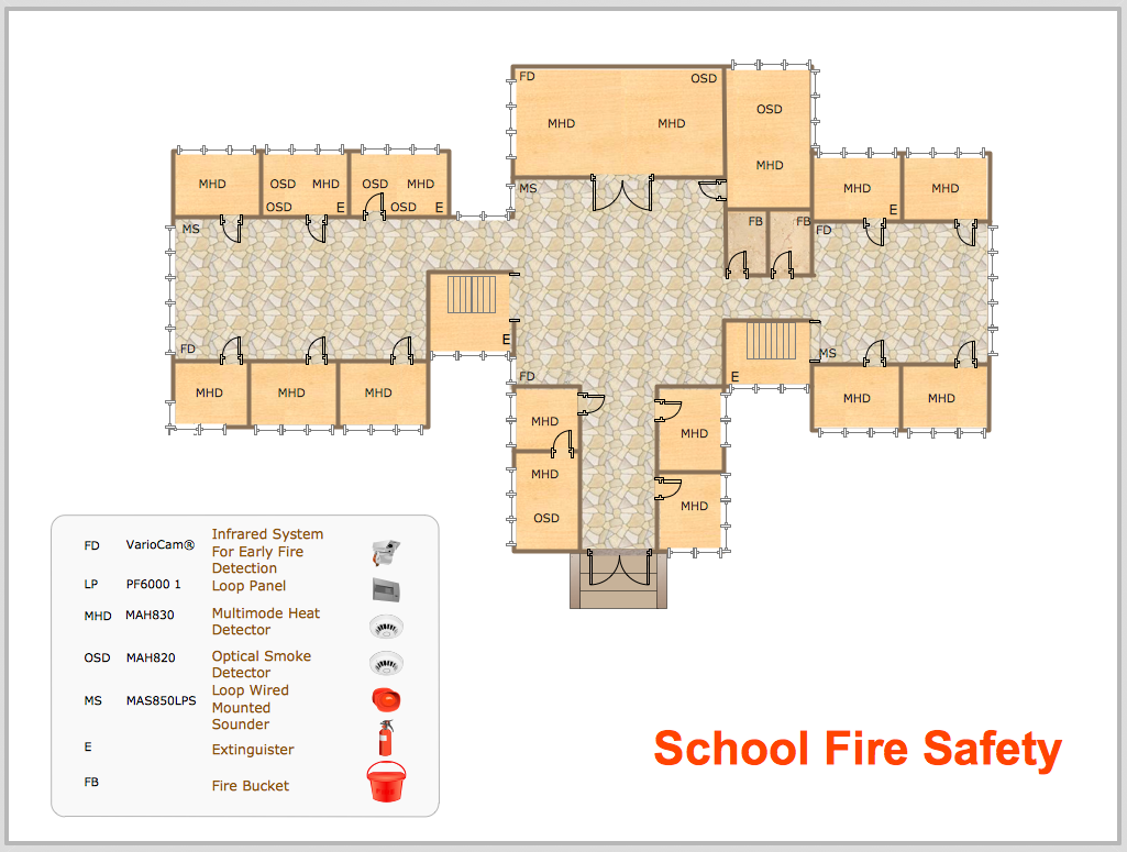 Conceptdraw samples floor plan and landscape design sample 20 floor plan school fire safety malvernweather Images