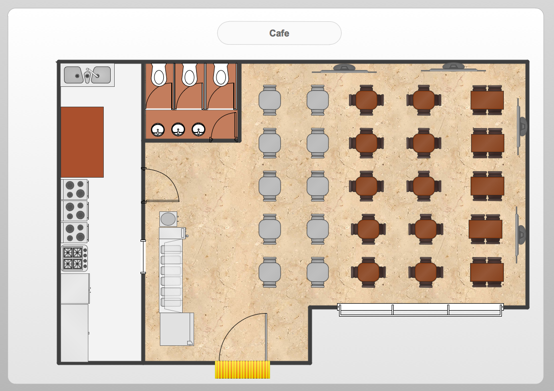 Sample 23 floor plan cafe