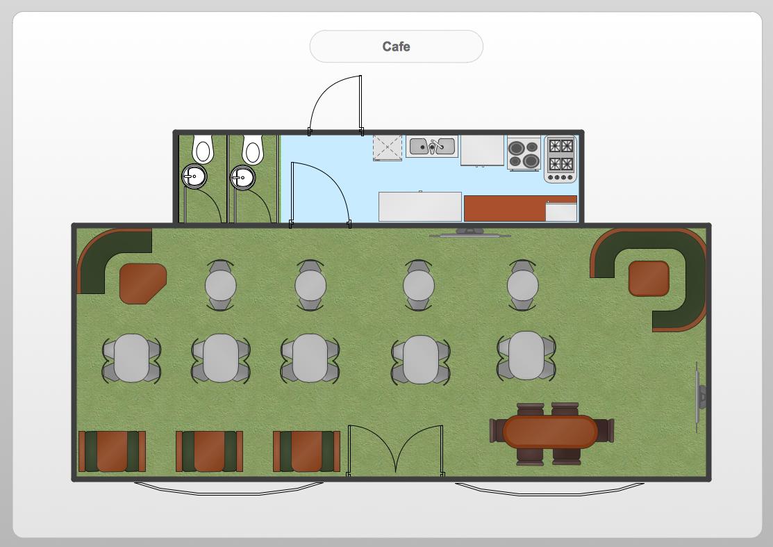 Conceptdraw samples floor plan and landscape design for Restaurant builder software
