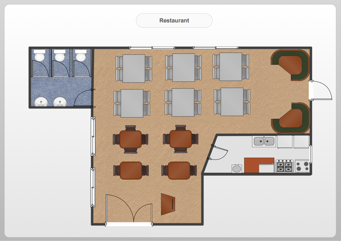 Conceptdraw Samples Floor Plan And Landscape Design This Example Created With Pro Diagramming Vector Sample 27 Restaurant Is Using Diagram