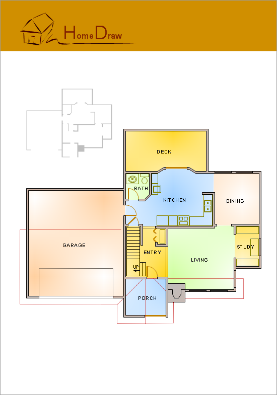 Conceptdraw samples floor plan and landscape design for Sample house floor plan drawings