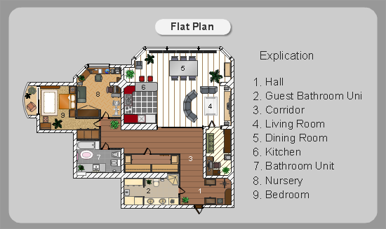 Conceptdraw samples floor plan and landscape design for House plan drawing samples