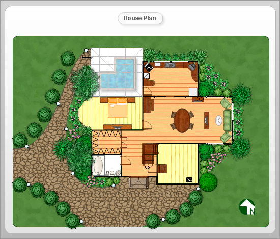 Conceptdraw samples floor plan and landscape design for Building layout tool
