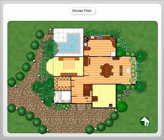 Small Home Garden Ideas Sample: Floor Plan And Landscape Design