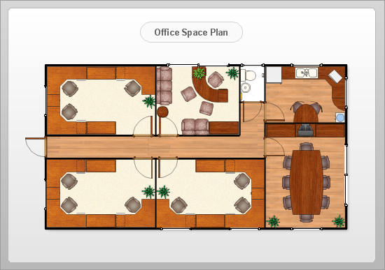 Conceptdraw samples floor plan and landscape design for Office layout plan design