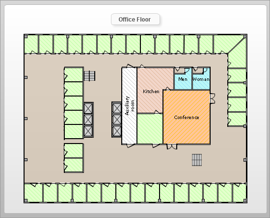 Sample 10: Floor Plan U2014 Office Floor