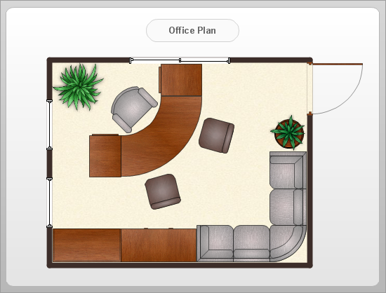 Conceptdraw samples floor plan and landscape design - Office floor plan design software ...